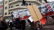 تابوت استبداد بر دوش راهپیمایان جشن چهل سالگی انقلاب