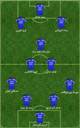 ترکیب تیم استقلال خوزستان