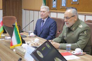 بازدید هیئت نظامی جمهوری آذربایجان از دانشگاه فرماندهی و ستاد ارتش