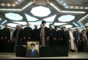 پیکر آیت الله شاهرودی پس از اقامه نماز توسط رهبر معظم انقلاب، تشییع شد