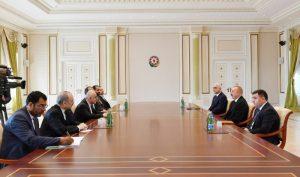 وزیر امور اقتصادی ایران با رییس جمهوری آذربایجان دیدار کرد