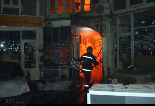 آتش سوزی در بازار تبریز مهارشد/ایکی قاپیلی باز هم در آتش