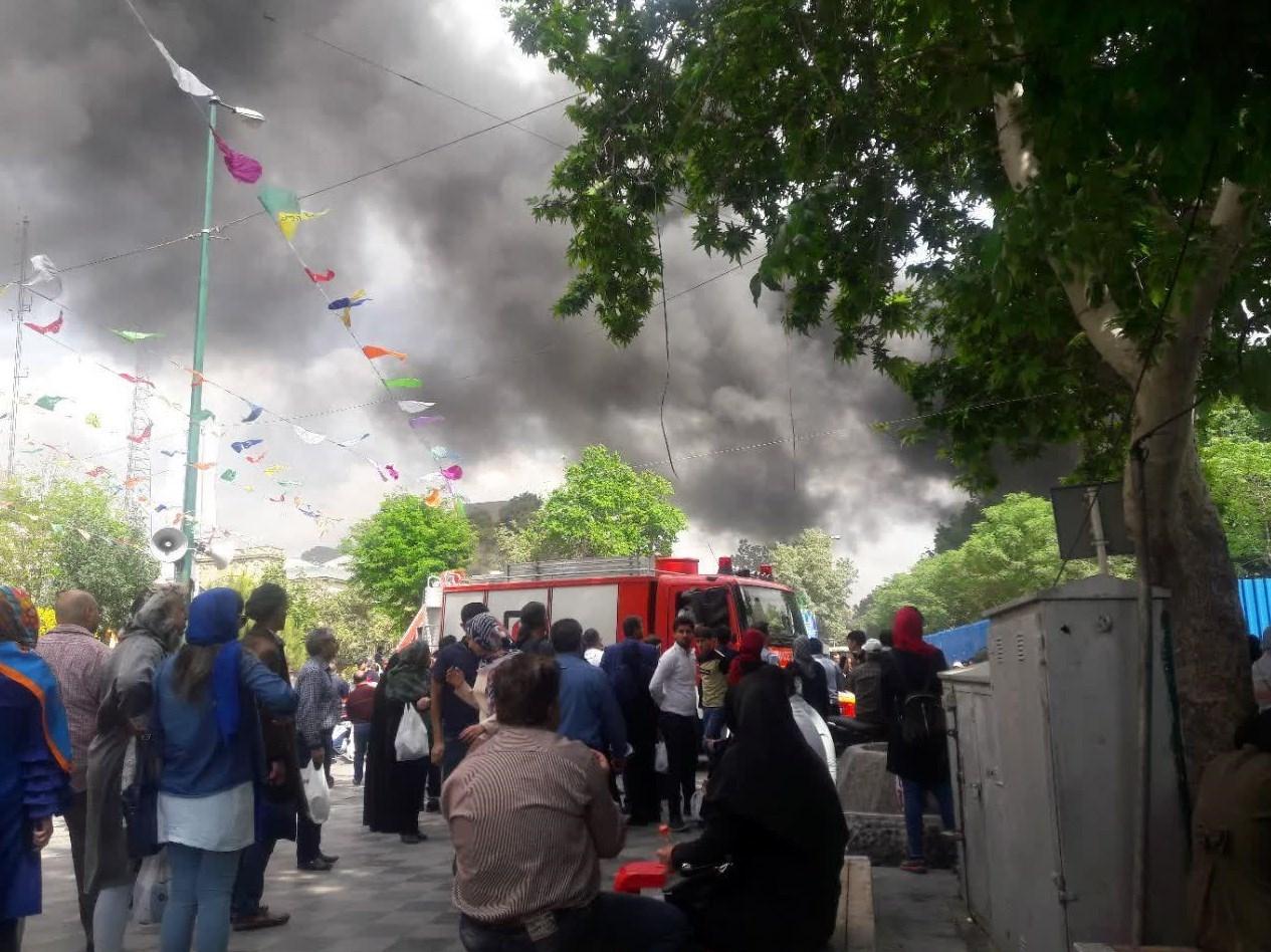آتش سوزی در بازار سید ولی
