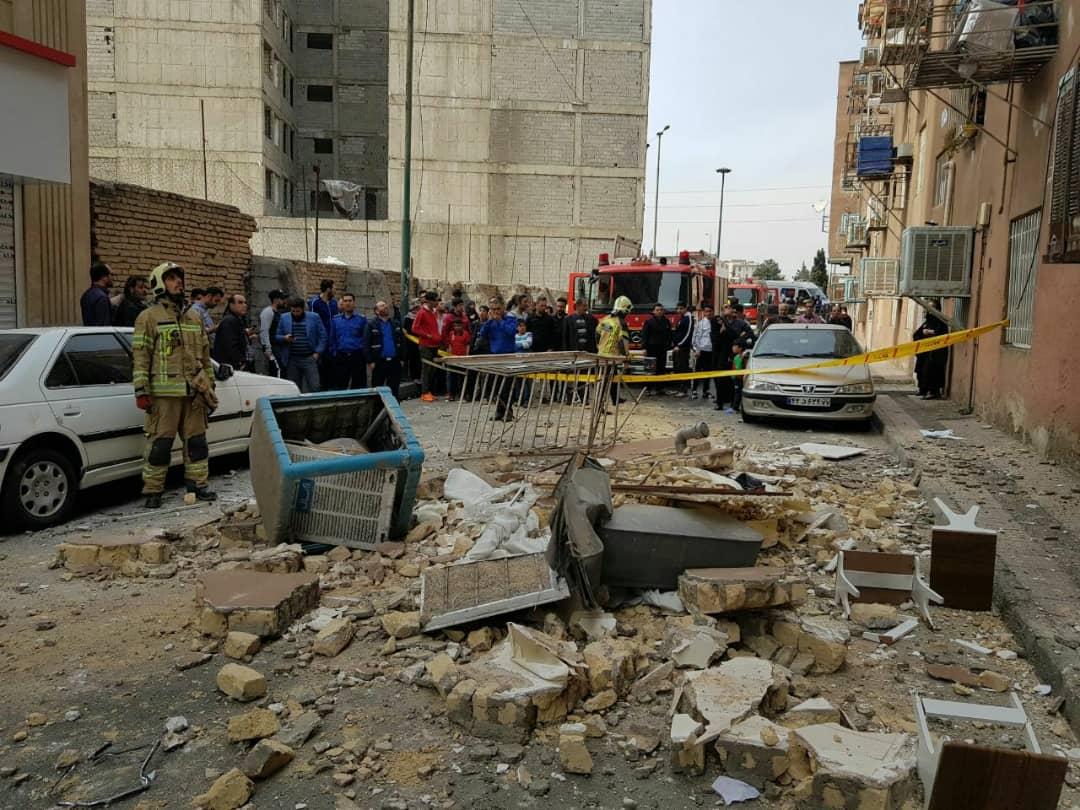 انفجار یک واحد مسکونی بر اثر نشت گاز