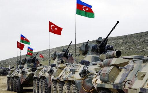 مانور نظامی مشترک ترکیه و جمهوری آذربایجان در باکو