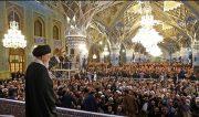 سخنرانی مقام معظم رهبری در حرم رضوی ؛ ساعت 15