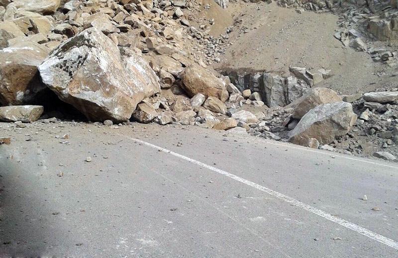ایمنسازی محل ریزش کوه عینالی تبریز انجام شد