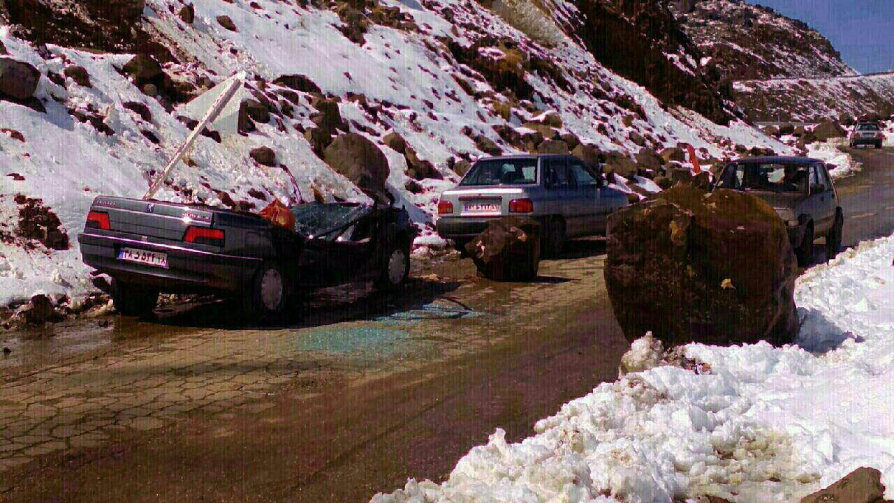 پیش بینی ریزش سنگ و سقوط بهمن در محور چالوس