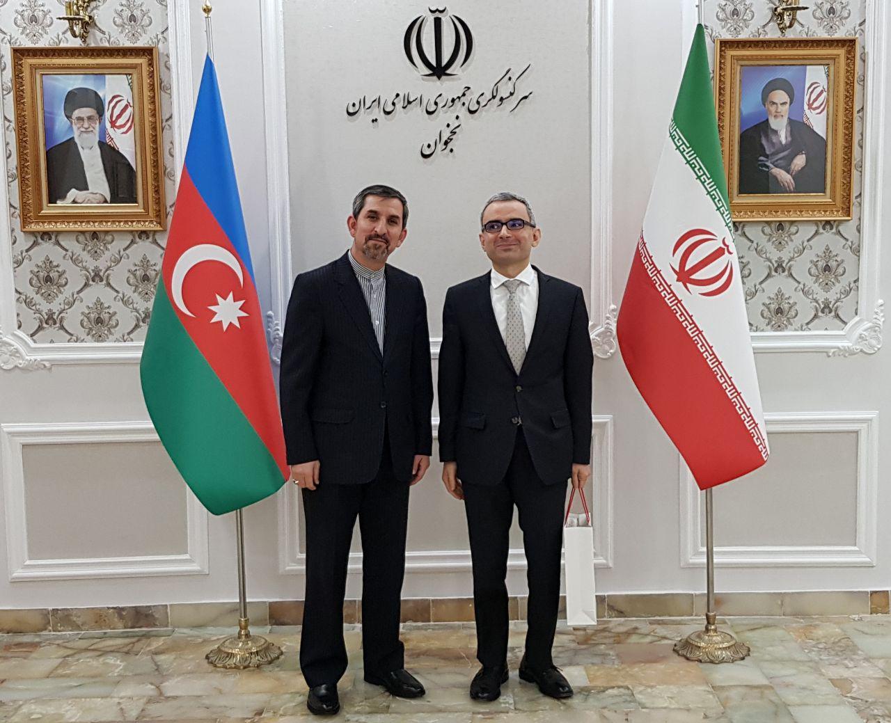 سرکنسول ایران در نخجوان: امیدوار به توسعه روابط سه جانبه ایران، ترکیه و آذربایجان هستیم