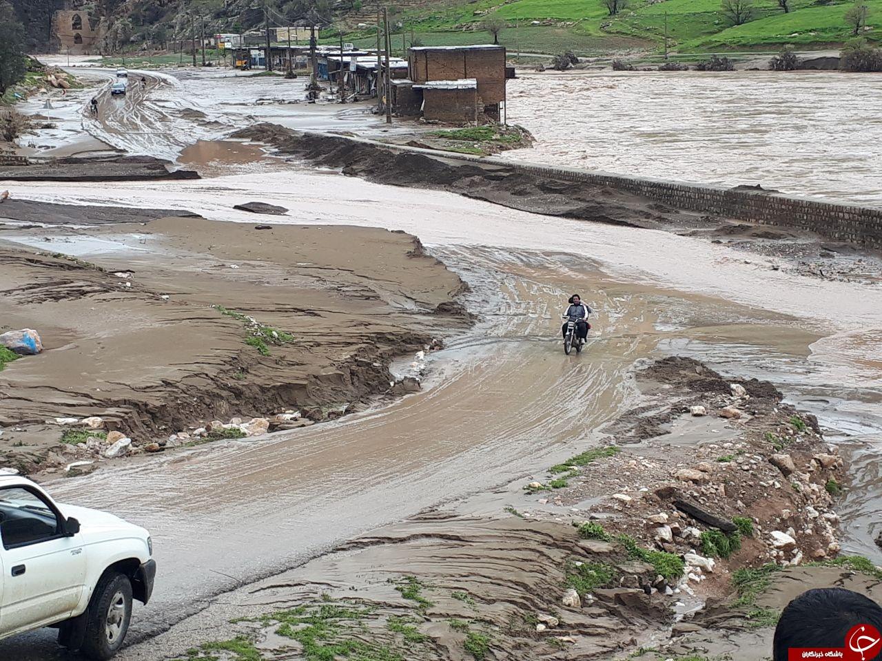 خسارت ۱۶۹ میلیاردی سیل به راه های شهرستان الیگودرز
