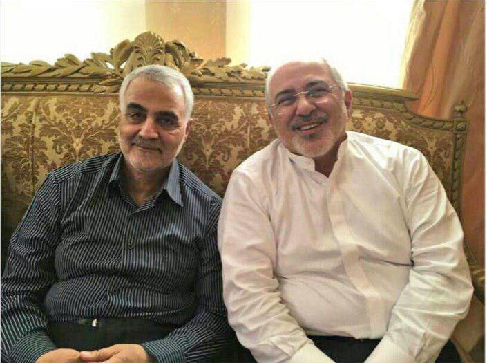 ظریف ، دریافت نشان ذوالفقار را به سرلشکر سلیمانی تبریک گفت