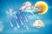 پیش بینی هفت روزه هوای استان و بارش برف و تگرگ با  کاهش 5 الی 12 درجه ای دما