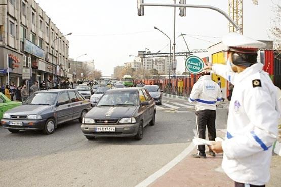 برخورد پلیس راهور با تخلفات خودرو های دولتی