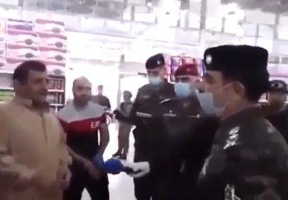 فیلم| نحوه نظارت پلیس عراق بر بازار کرونایی این کشور