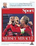 روزنامه های انگلیس؛ معجزه آنفیلد (عکس)