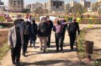 آخرین بازدید شهردار تبریز از پارک آماده افتتاح «مدافعان سلامت»