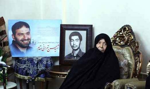 مادر شهیدان طهرانی مقدم به فرزندان شهیدش پیوست
