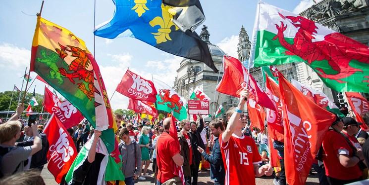 هزاران ولزی استقلال از بریتانیا را خواستار شدند+تصاویر