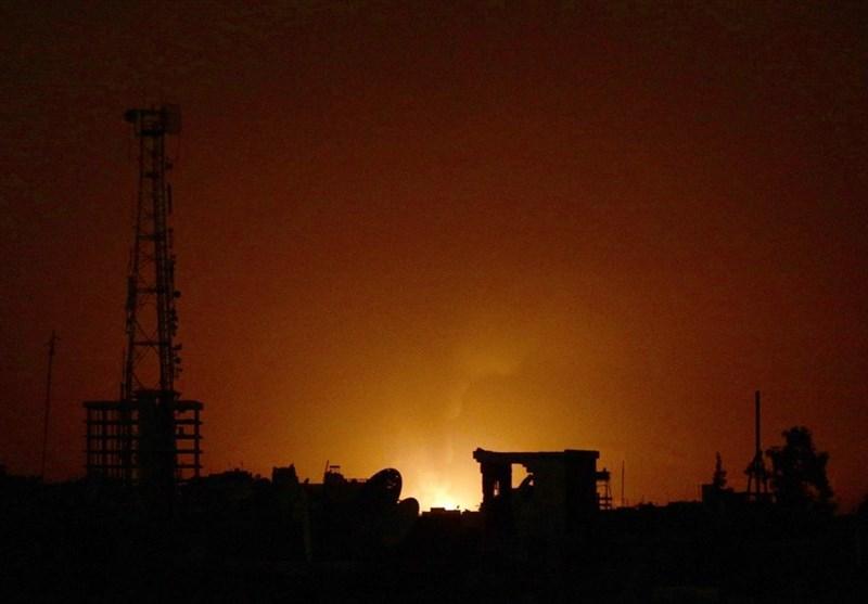 مقابله پدافند هوایی سوریه با تجاوز رژیم صهیونیستی به حومه درعا