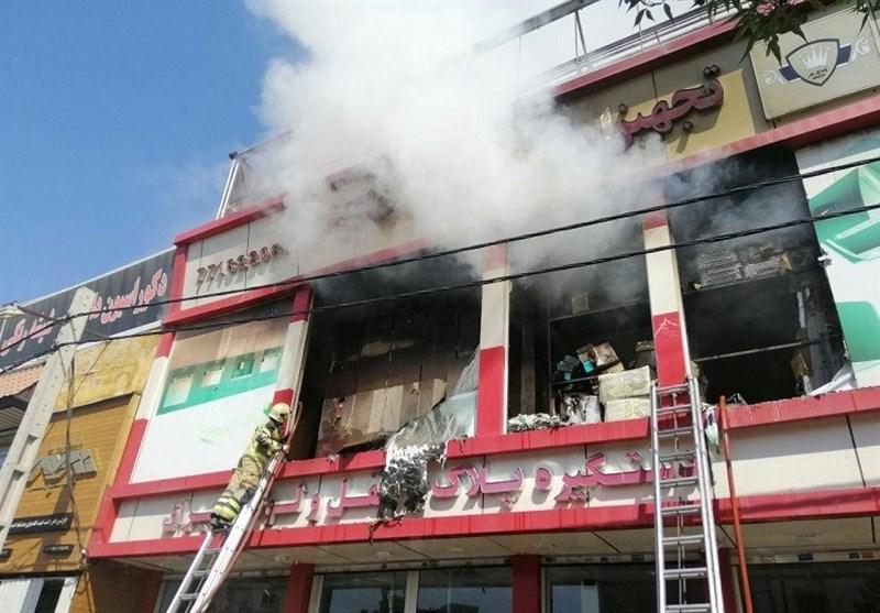 تهران| انبار بزرگ ابزار طعمه حریق گسترده شد + فیلم و تصاویر