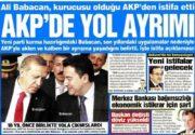 بازتاب خبر استعفای باباجان در رسانههای ترکیه