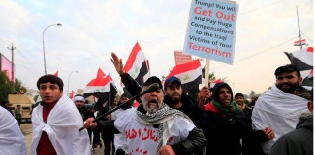 رویترز: مردم عراق شعار «نه به آمریکا، نه به استعمار» سر دادند