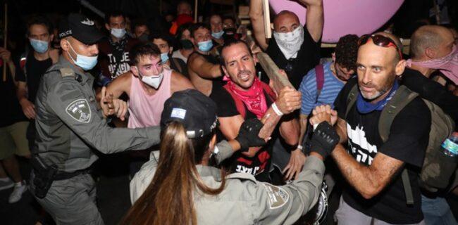 درگیری پلیس صهیونیستی با تظاهرات ضد نتانیاهو؛ ۱۲ معترض بازداشت شدند