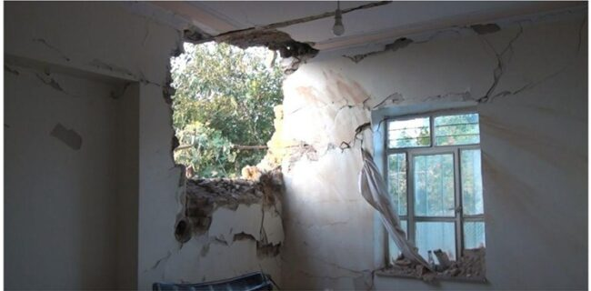 اصابت ۱۰ راکت مناقشه قره باغ به روستاهای خداآفرین/ تخریب یک خانه و مصدوم شدن یک نفر+ عکس