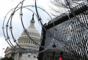 کنگره آمریکا همچنان محصور در میان فنس و سیم خاردار