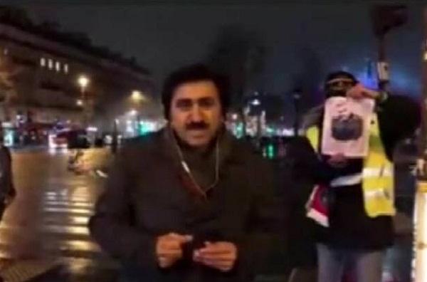 تصویر سردار سلیمانی در دستان معترض پاریسی