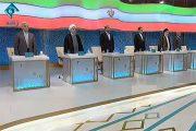 کش و قوس های قالیباف و روحانی در نخستین مناظره تلویزیونی