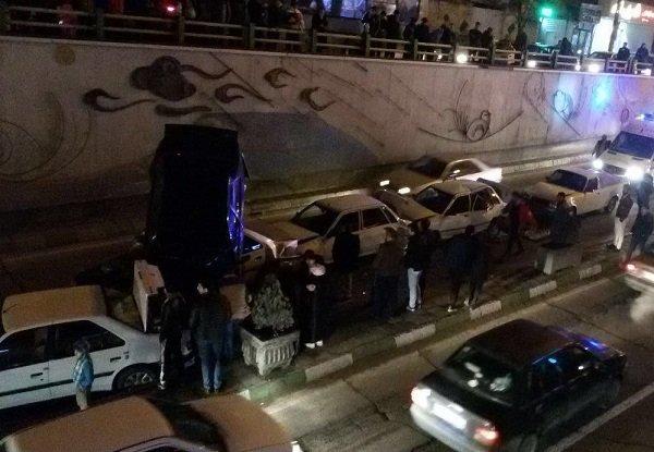 ۷ مصدوم در تصادف زنجیره ای تبریز