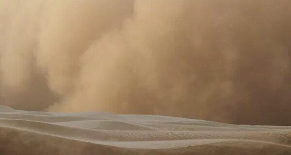 طوفان عظیم شن عربستان سعودی و قطر را درنوردید