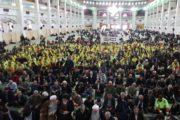 حضور شهردار تبریز و جمعی از اعضای شورای شهر با لباس پاکبانی در نماز جمعه