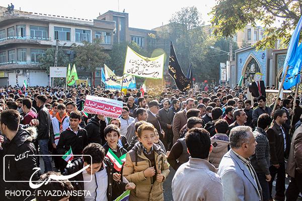 راهپیمایی روز دانش آموز در تبریز به روایت تصویر
