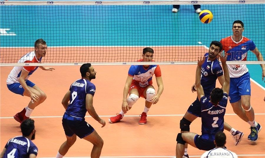پخش زنده بازی والیبال ایران صربستان
